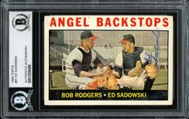 Ed Sadowski Autographed 1964 Topps Card #61 Los Angeles Angels Beckett BAS #12306065
