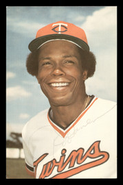 Rod Carew Autographed 1978 3.5x5.5 Postcard Minnesota Twins SKU #178179
