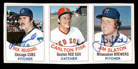 Rick Reuschel & Jim Slaton Autographed 1977 Hostess Card Panel SKU #178183