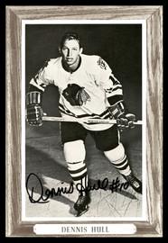 Dennis Hull Autographed 1964-67 Beehive Group 3 4.5x6.5 Photo Chicago Blackhawks SKU #178199