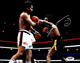 Sugar Ray Leonard Autographed 8x10 Photo vs. Roberto Duran PSA/DNA #W58174