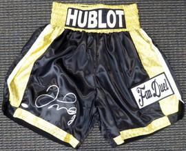 Floyd Mayweather Jr. Autographed Black Boxing Trunks JSA Stock #178293