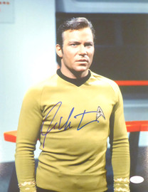 William Shatner Autographed 11x14 Photo Star Trek JSA Stock #178312