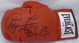 "George Foreman Autographed Red Everlast Boxing Glove LH Signed In Black ""Big George"" Beckett BAS Stock #178347"