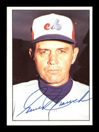 Gene Mauch Autographed 1975 SSPC Card #597 Montreal Expos SKU #178722