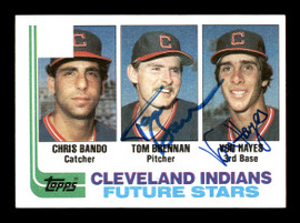 Von Hayes & Tom Brennan Autographed 1982 Topps Rookie Card #141 Cleveland Indians SKU #178778