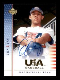 Jon Jay Autographed 2005 Upper Deck USA Rookie Card #69 National Team SKU #178824