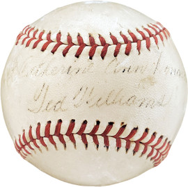 "Ted Williams Autographed Official 1940's American League Baseball Boston Red Sox ""Catherine"" JSA #Y33835"