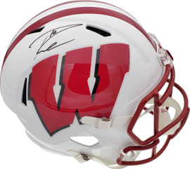 Russell Wilson Autographed Wisconsin Badgers Full Size Speed Replica Helmet RW Holo Stock #178963