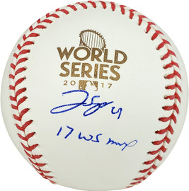"""George Springer Autographed Official 2017 World Series Baseball Houston Astros """"17 WS MVP"""" MLB Holo Stock #178979"""