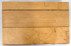 1995-1998 Chicago Bulls Game Used United Center 4x6 Blonde Hardwood Floor Piece Michael Jordan Stock #179035