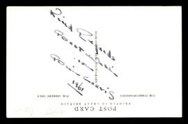 Brian Curvis Autographed 3.5x5.5 Postcard SKU #179749