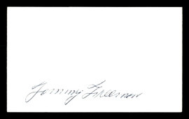 Tommy Freeman Autographed 3x5 Index Card Welterweight Champ SKU #179750