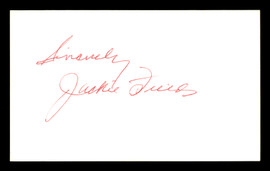 Jackie Fields Autographed 3x5 Index Card Welterweight Champ SKU #179753