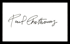 Paul Anthony Autographed 3x5 Index Card Welterweight Boxer SKU #179756