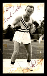 "Chuck Davey Autographed 3x5 Postcard ""To Bill"" Signed Twice SKU #179766"