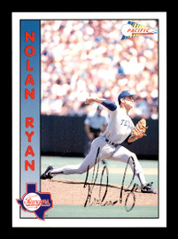 Nolan Ryan Autographed 1992 Pacific Card #1 Texas Rangers SKU #179785