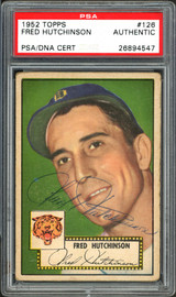 Fred Hutchinson Autographed 1952 Topps Card #126 Detroit Tigers PSA/DNA #26894547