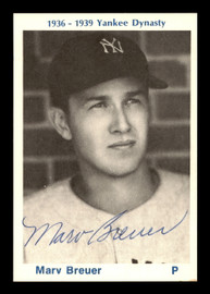 Marv Breuer Autographed 1974 TCMA 1936-39 Yankee Dynasty Card New York Yankees SKU #179809
