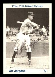 Art Jorgens Autographed 1974 TCMA 1936-39 Yankee Dynasty Card New York Yankees SKU #179813