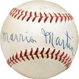 Morris Morrie Martin Autographed Official Harridge AL Baseball Brooklyn Dodgers Vintage Signature Beckett BAS #V68132