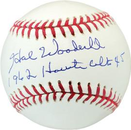 "Hal Woodeshick Autographed Official MLB Baseball Houston Colt .45's ""1962 Houston Colt .45's"" Beckett BAS #V68292"