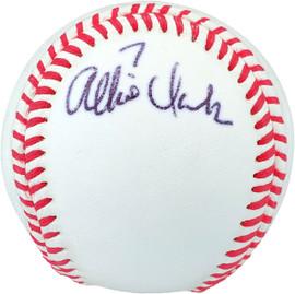 Allie Clark Autographed Official League Baseball New York Yankees Beckett BAS #V68346