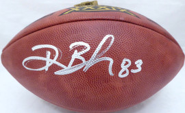 Deion Branch Autographed Wilson NFL SB XXXIX Leather Football New England Patriots Beckett BAS #V62705