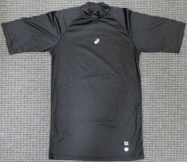 Unsigned Ichiro Suzuki Seattle Mariners Black Short Sleeve Game Used Asics Under Shirt IS Holo Stock #179834