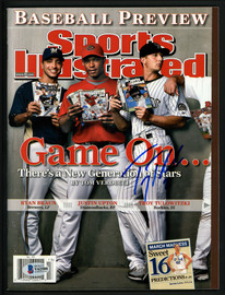 Troy Tulowitzki Autographed Sports Illustrated Magazine Colorado Rockies No Label Beckett BAS #V62580