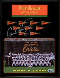 Cal Ripken Jr. Autographed Official 1996 Program Baltimore Orioles Beckett BAS #V62776