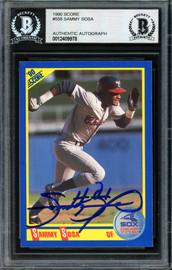 Sammy Sosa Autographed 1990 Score Rookie Card #558 Chicago White Sox Beckett BAS #12409978