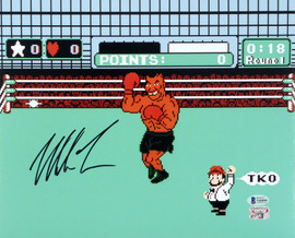 Mike Tyson Autographed 11x14 Photo Punch-Out Beckett BAS Stock #180904