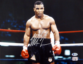Mike Tyson Autographed 11x14 Photo Beckett BAS Stock #180906