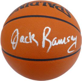Jack Ramsay Autographed Official Spalding NBA Basketball Portland Trail Blazers Beckett BAS #V62765
