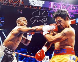 Floyd Mayweather Jr. Autographed 16x20 Photo Vs. Manny Pacquiao Beckett BAS #V06967