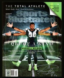 Russell Wilson Autographed Sports Illustrated Magazine September 2020 Edition Seattle Seahawks RW Holo #39310