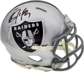 Bo Jackson Autographed Oakland Raiders Speed Mini Helmet Beckett BAS Stock #181089