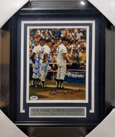 Mickey Mantle, Whitey Ford & Bill Skowron Autographed Framed 8x10 Photo New York Yankees Auto Grade 10 PSA/DNA #AF04207
