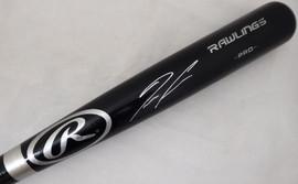 Ronald Acuna Jr. Autographed Black Rawlings Baseball Bat Atlanta Braves Beckett BAS Stock #181314