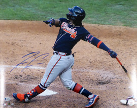 Ronald Acuna Jr. Autographed 16x20 Photo Atlanta Braves Beckett BAS Stock #181323