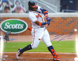 Ronald Acuna Jr. Autographed 16x20 Photo Atlanta Braves Beckett BAS Stock #181325