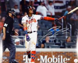 Ronald Acuna Jr. Autographed 16x20 Photo Atlanta Braves Beckett BAS Stock #181327