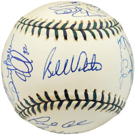2001 National League All Star Team Autographed Official 2001 All Star Game Baseball 26 Total Signatures Including Mike Piazza & Chipper Jones MLB Holo #AR060516