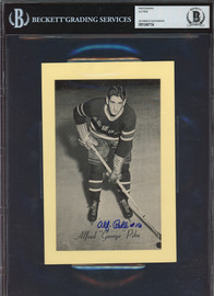 Alf Pike Autographed 1944-63 Beehive Group 2 5.5x8 Photo New York Rangers Beckett BAS #12487154