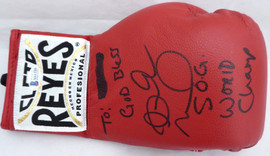 "Andre Ward Autographed Red Reyes Boxing Glove ""God Bless, S.O.G. & World Champ"" Beckett BAS #V61330"