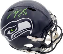 Tyler Lockett Autographed Seattle Seahawks Full Size Speed Replica Helmet In Green MCS Holo Stock #182241