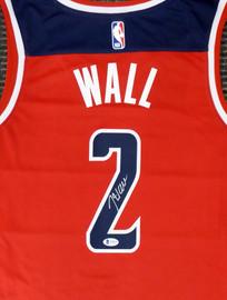 Washington Wizards John Wall Autographed Red Nike Swingman Jersey Size L Beckett BAS Stock #182250