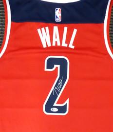 Washington Wizards John Wall Autographed Red Nike Swingman Jersey Size XL Beckett BAS Stock #182251