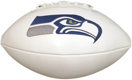 Seattle Seahawks Unsigned Wilson White Logo Football Stock #182253